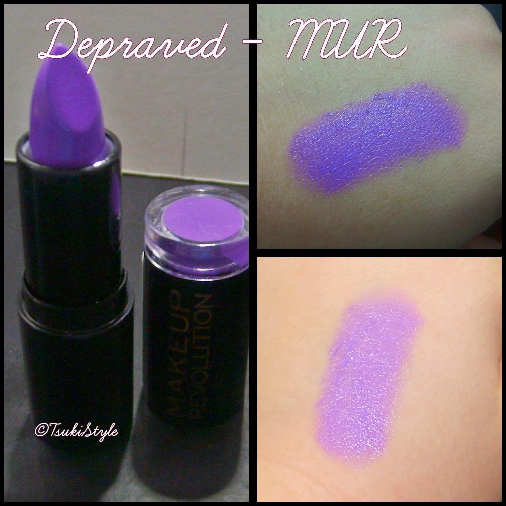 depraved makeup revolution morado lipstick tsuki style makeup