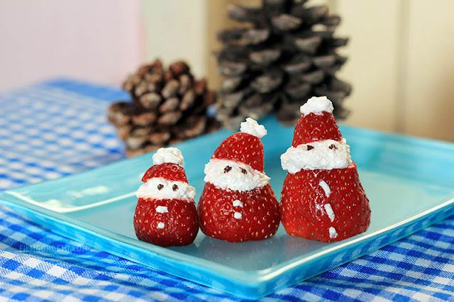 Eğlenceli Yiyecekler: Çilek ile Noel Baba Yapımı