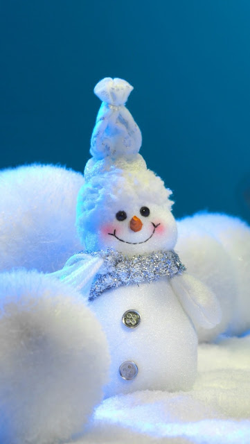 christmas light snow man iphone 5 wallpaper