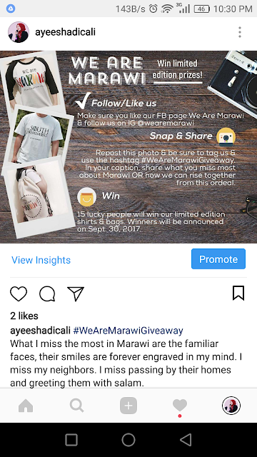We are Marawi Giveaway entry