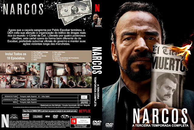 Capa DVD Narcos Terceira Temporada [Exclusiva]