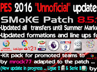 PES 2016 Unofficial Updated September 2016 Option File For Smoke Patch 8.5.1 by HarleyGnr