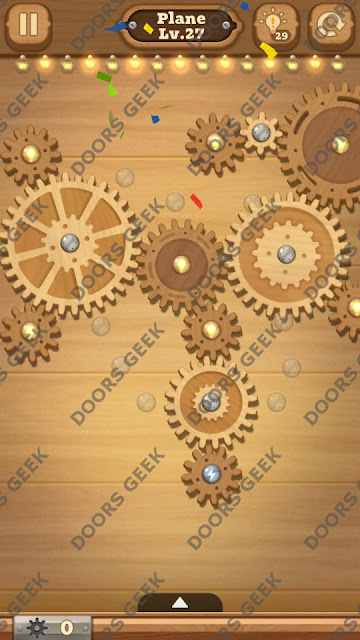 Fix it: Gear Puzzle [Plane] Level 27 Solution, Cheats, Walkthrough for Android, iPhone, iPad and iPod