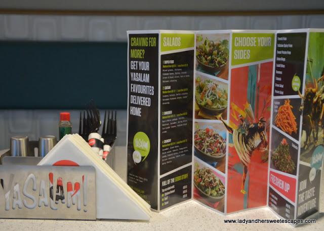 Yasalam Dubai restaurant menu