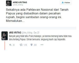 Tanggapan Arie Kriting