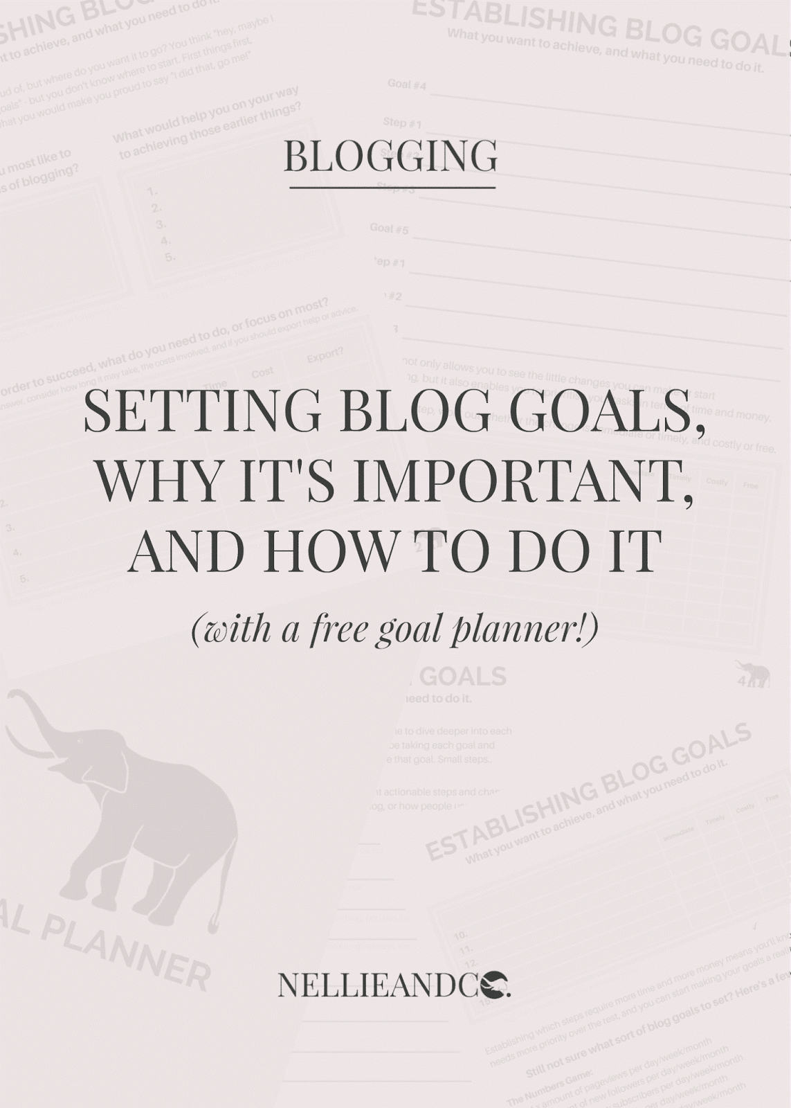 Blog goals are important and help you establish what you want to change and achieve in terms of your blogging journey. Get an idea of what you want with my free goal planner!