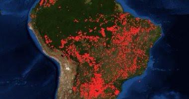 ناسا, حرائق لفريقيا, الامازون,
