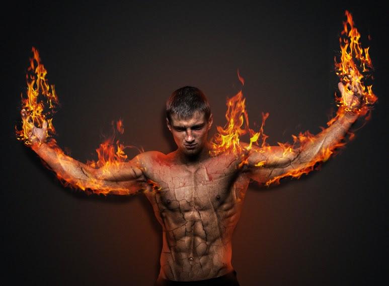 manipulasi photoshop, efek api photoshop, efek manusia api
