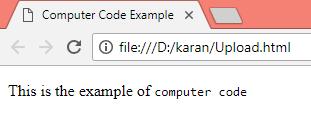HTML Computer Code