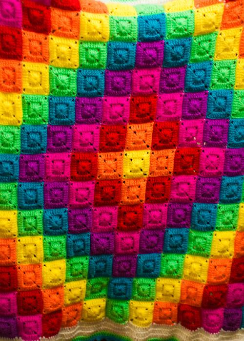 Mini Solid Square Rainbow Blanket - Tutorial