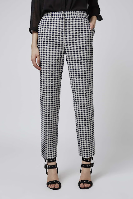 gingham trousers, topshop gingham trousers,
