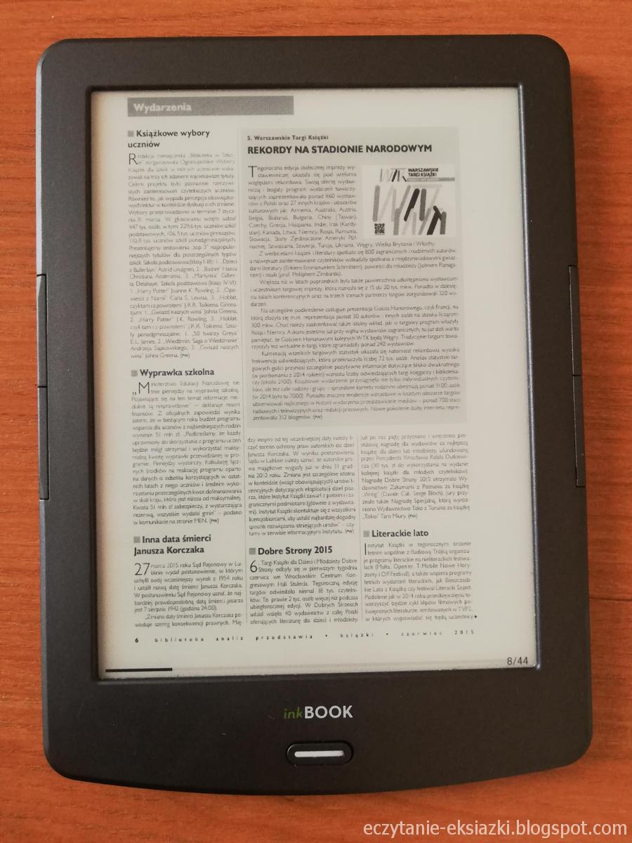 InkBOOK Classic 2 - obsługa pdf w trybie zwykłym