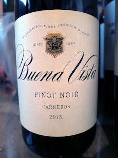Buena Vista Carneros Pinot Noir 2013 (90 pts)
