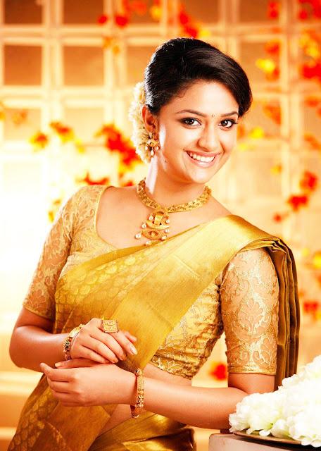 Actress Keerthy Suresh in saree Photos