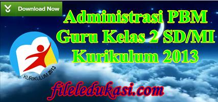 Administrasi Kurikulum 2013 Kelas 2 Sd/Mi Lengkap