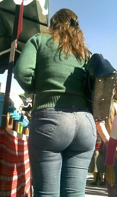 image Candid big butt mature ass voyeur street booty