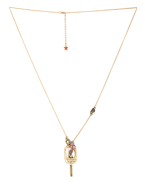 8968 #necklace #gold #beads #charms #bunny #girlpower Rs.998