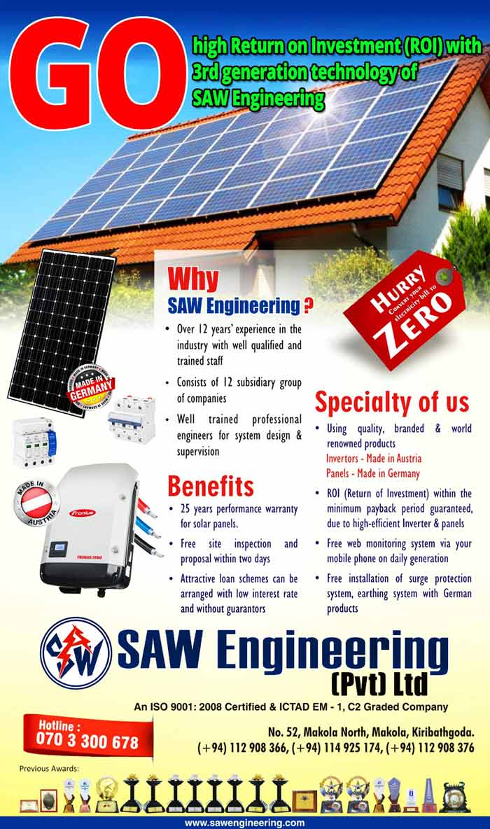 Go! High Return on Investment (ROI) with 3rd Generation Technology of SAW Engineering