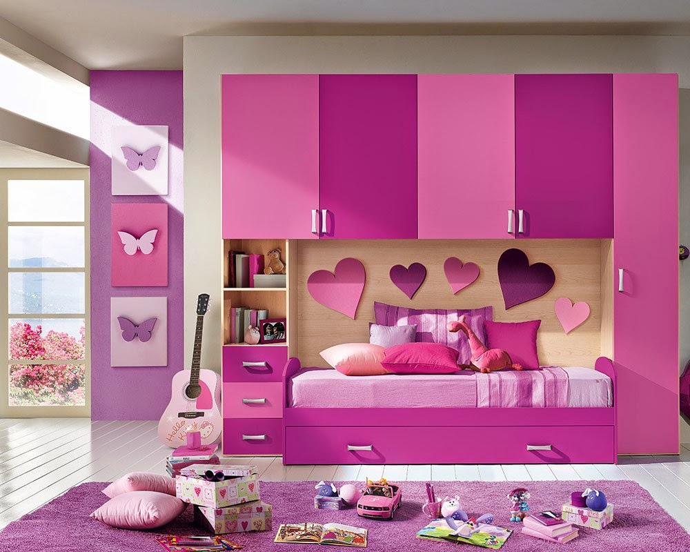 7 Inspiring Kid Room Color Options For Your Little Ones: Purple Bedrooms Design & Ideas