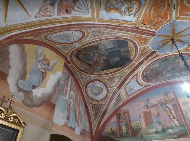 affreschi nel Santuario della Madonna della Stella