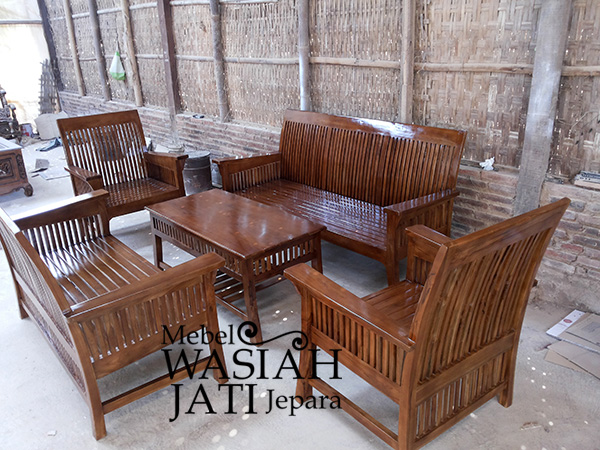Kursi Tamu Minimalis Jayu Jati 3211 Toko Mebel Wasiah Jati Jepara