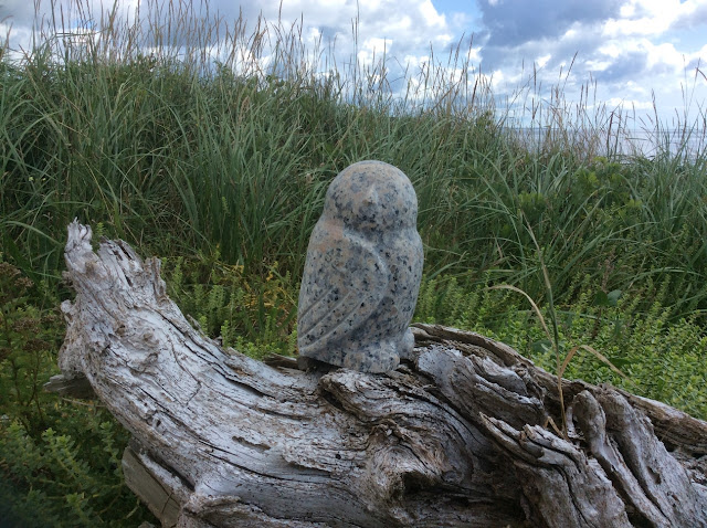 White Granite Owl Frank Julien