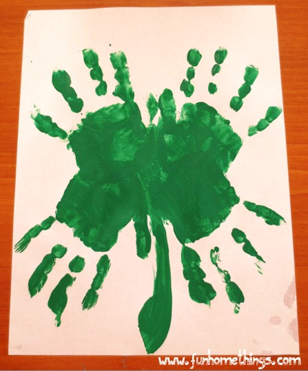 St Patricks Day Crafts Handprint Clover Fun Home Things