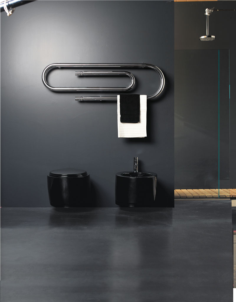 Scirocco H scaldasalviette tubolare Graffe in acciao
