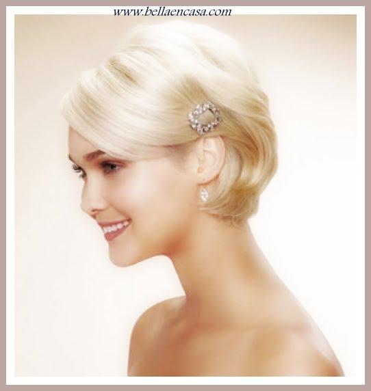 Peinados para bodas de plata pelo corto