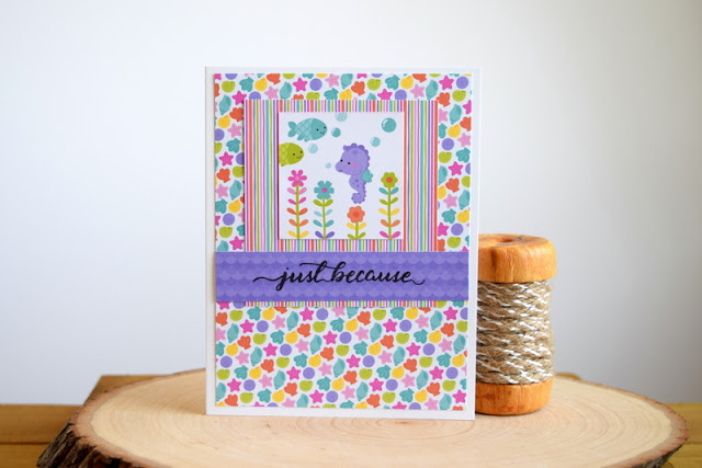 Doodlebug Under the Sea Card by Jess Crafts