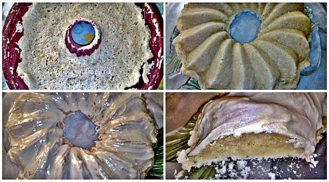 Preparación del pastel de almendras y chocolate blanco en el microondas