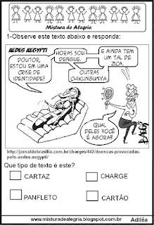 Simulado de português sobre dengue