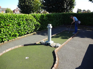 Crazy Golf course at Vickersway Park in Northwich, Cheshire