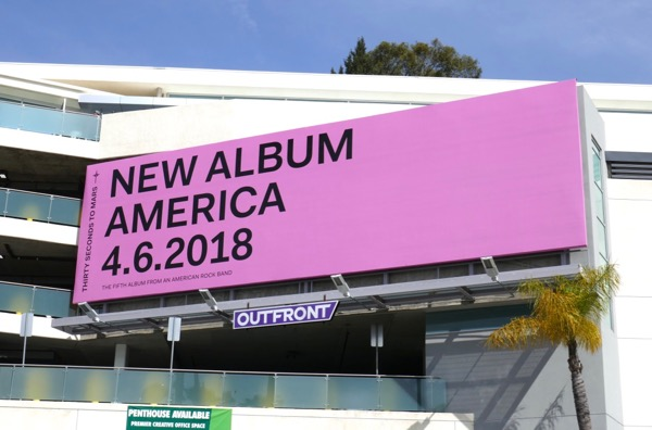 Thirty Seconds to Mars America album billboard