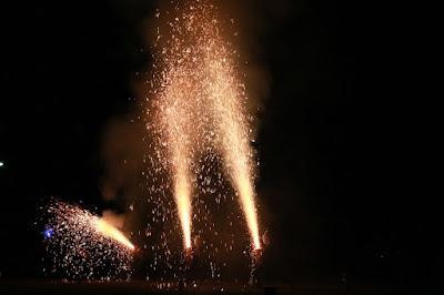 赤とんぼフェスティバルinいくさか2016 一日目 みのわ手筒会の花火