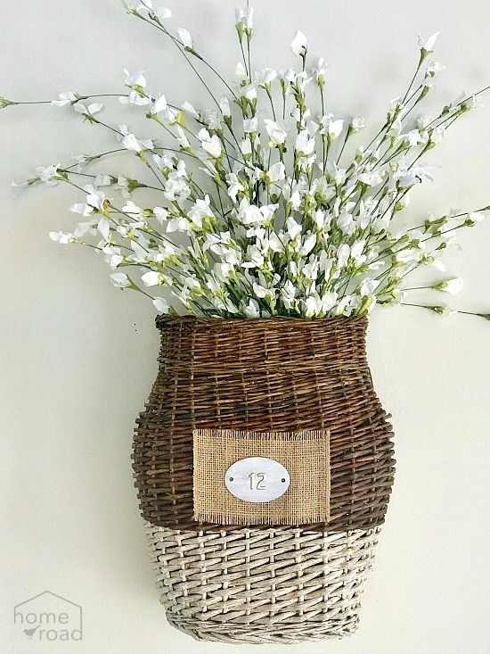 How to Make a Repurposed Flower Basket for Spring. Homeroad.net