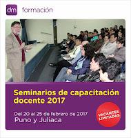 20 al 25 de febrero: Capacitación docente en Puno y Juliaca