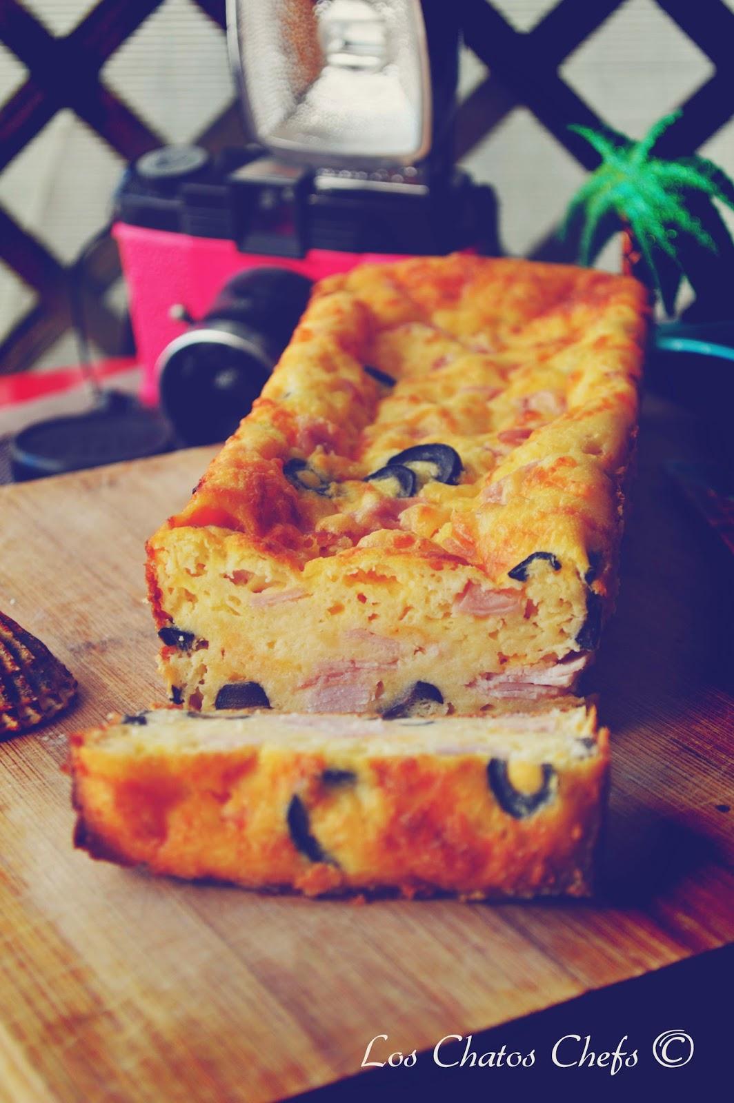 plumcake de jamón y aceitunas