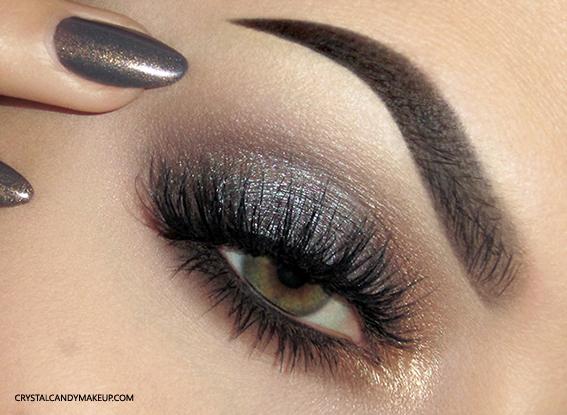 Urban Decay Naked Smoky Eyeshadow Palette Review Swatch Makeup Eye Look EOTD Green Eyes Illamasqua Facet