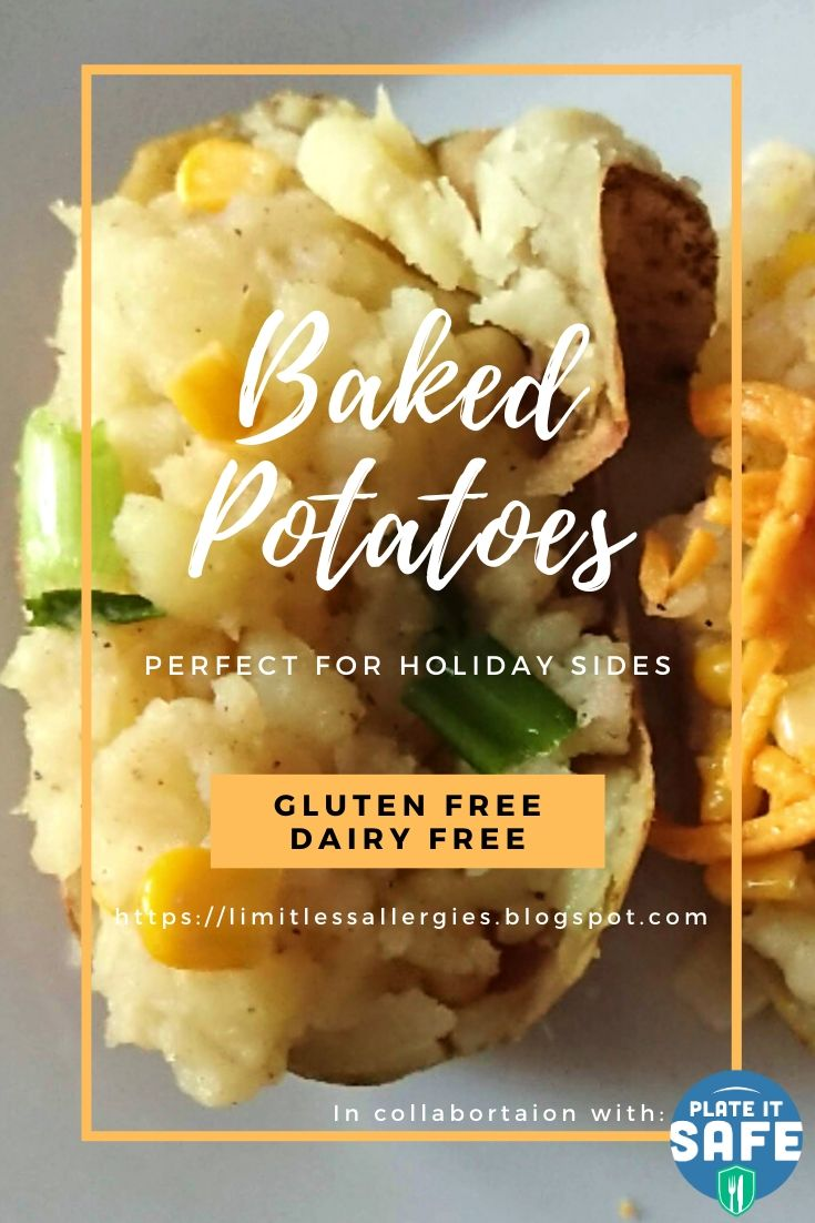 image for pinning Gluten Free and Dairy Free Baked Potatoes recipe