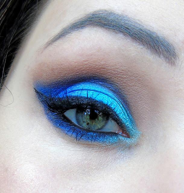 Niebiesko-niebieski makijaż :D
