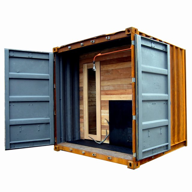 shipping container homes the sauna box castor design canada shipping container sauna. Black Bedroom Furniture Sets. Home Design Ideas