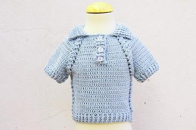 2-Crochet IMAGEN Jersey de niño y niña a crochet muy facil y rapido Majovel Crochet