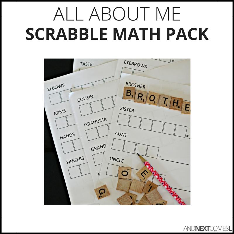 Scrabble math packs