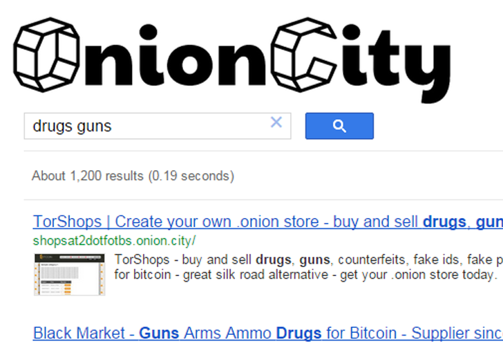Onion City — Search Engine for Deep Web that Works From