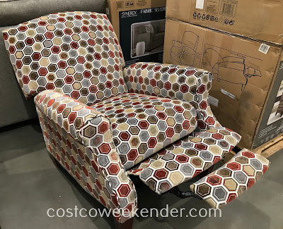 Costco 2000895 - Watch tv, read a book, or take a nap on the Synergy Fabric Pushback Recliner