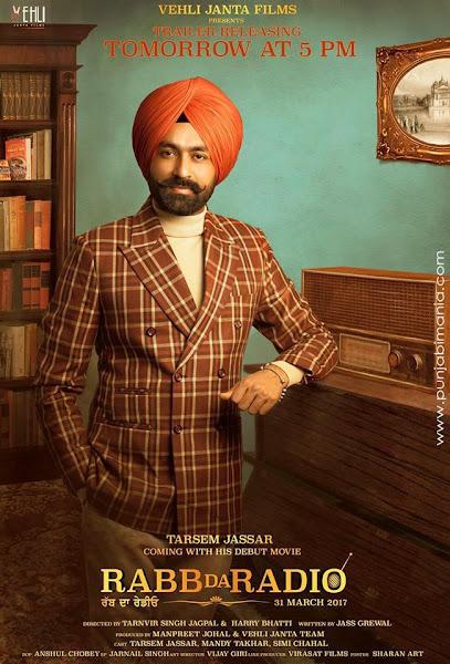 Poster of Rabb Da Radio 2017 Punjabi 720p HDRip x264 Full Movie Download