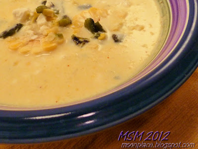 Fresh Corn Chowder w/ Roasted Peppers