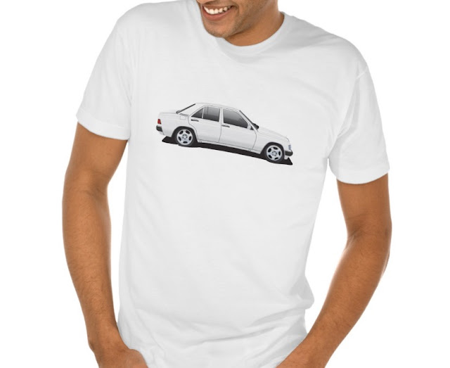Mercedes-Benz 190E t-shirts white