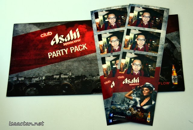 Club Asahi Moscow's Party Pack and some photo booth pictures